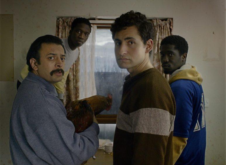 Vikash Bhai, Kwabena Ansah, Amir El-Masry and Ola Orebiyi star in Limbo, set in the Hebrides