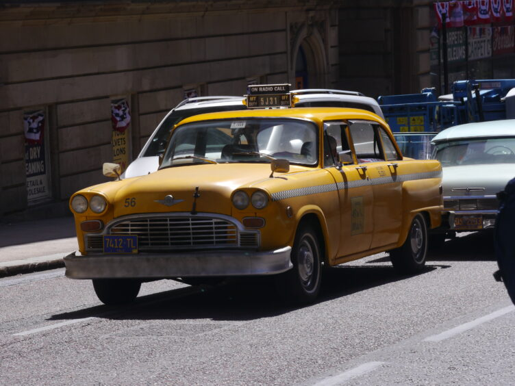 A classic New York taxi