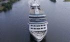 Azamara Quest heading down the River Clyde
