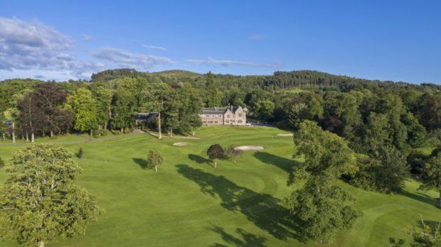 Murrayshall House overlooks golf courses