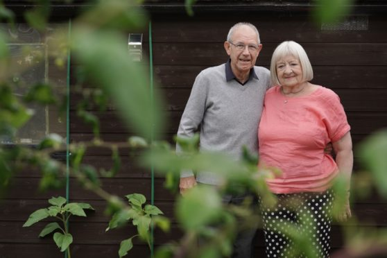Retired couple Charles and Dorothy Dickson at their Edinburgh home