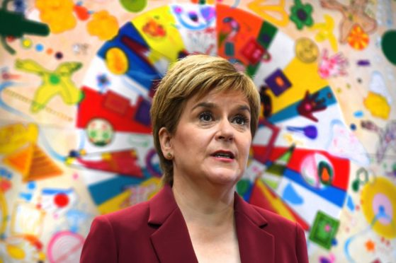 First Minister Nicola Sturgeon during a visit to the Connect Community Trust's Connie Centre in Glasgow.
