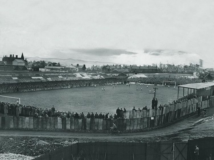 Station Park in 1958, home of Forfar Athletic.