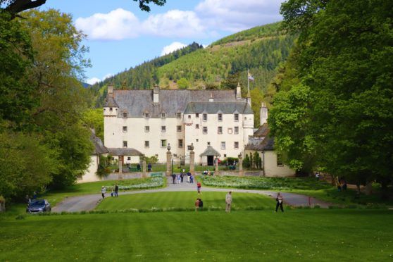 Traquair House, dating back to 1107, is located in Innerleithen
