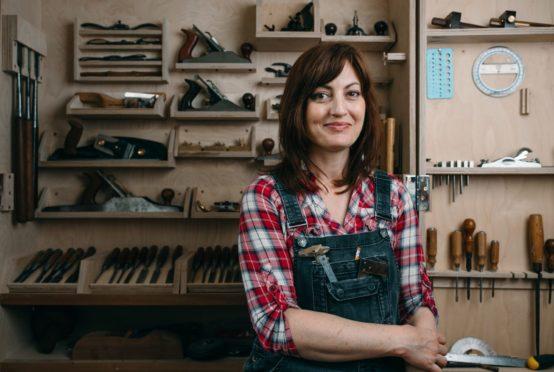 Furniture maker Vanessa Johnston in her workshop