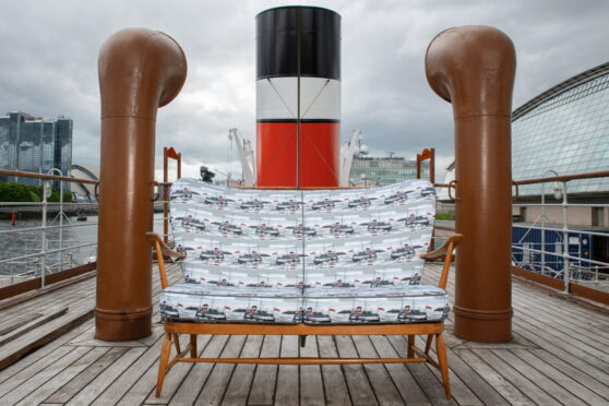 The sofa on the deck of PS Waverley
