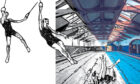 Arlington Baths, Glasgow, then and now: Travelling rings used by Victorian gymnasts remain to this day, 150 years after the swimming pool was founded