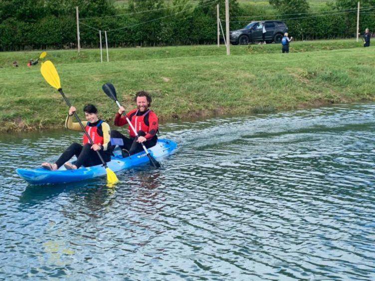 Jayne and Gav take on kayaking