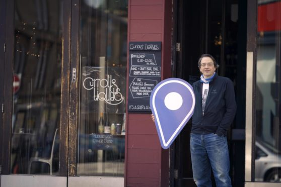 Dayton Joline owner of Curious Liquids in Shawlands Glasgow, part of Scotland Loves Local.