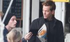 Actor Kevin Bacon films an advert for EE in New York in 2014