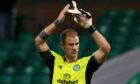 Joe Hart applauds the fans after Celtic's win over Jablonec on Thursday night