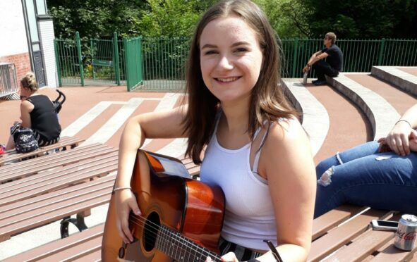 Caitlin Agnew at the Kelvingrove Bandstand