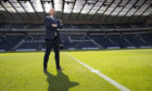 Scotland manager Steve Clarke at Hampden after signing his new deal with the SFA
