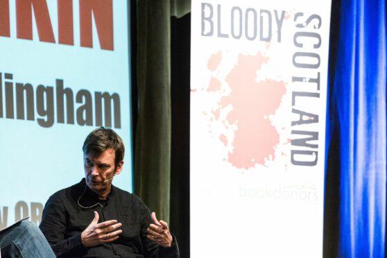 Crime writer, Ian Rankin at Bloody Scotland.