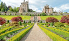 Drummond Castle and Gardens near Crieff in Perthshire, Scotland.