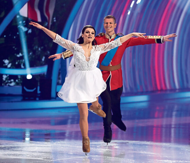 Faye and Dancing On Ice partner Hamish Gaman