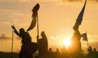 Sun sets on the Largs Viking Festival