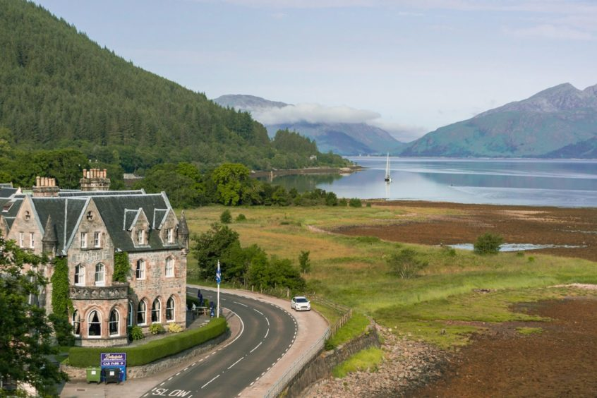 The Ballachulish Hotel on the banks of Loch Linnhe