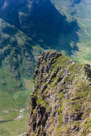 The Chancellor looking out on Glen Coe