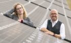 Scottish Greens co-leaders Patrick Harvie and Lorna Slater visit the site of a new solar farm at the University of Edinburgh