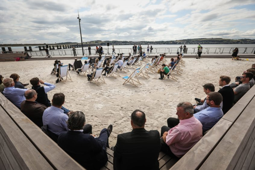Dundee's urban beach opens last month
