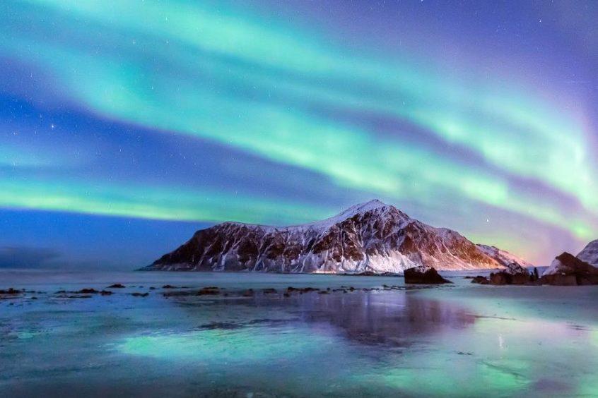 Observe the Aurora Borealis phenomenon during the voyage.