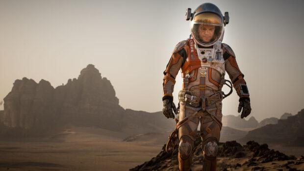 Actor Matt Damon in 2015 film The Martian