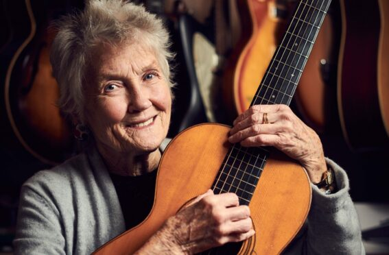 Peggy Seeger in New Malden in 2018