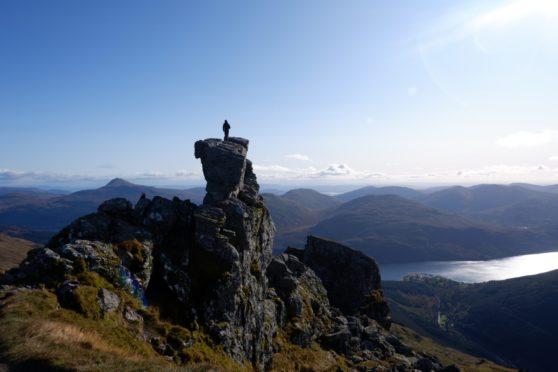 Autumn walk up Ben Arthur, views to Ben Narnain, Ben Ime and Ben Lomond