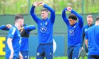 Hands up if you can score against Israel. Lyndon Dykes and Che Adams, seen in training, will be hoping Eran Zahavi won't be celebrating at Hampden again.