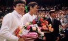 Billie Jean King and Judy Tegart-Dalton at Wimbledon