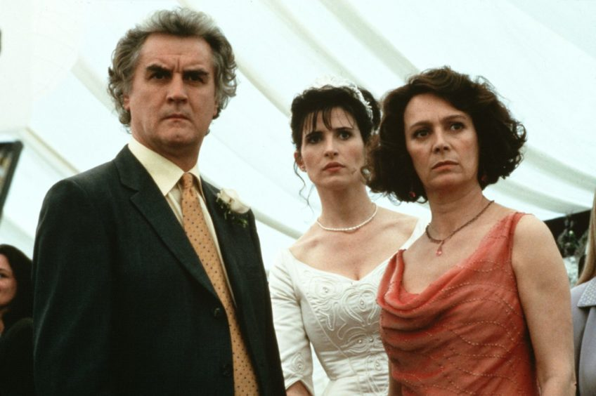 Macdonald with Billy Connolly and Francesca Annis in The Debt Collector