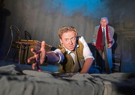 Antony Eden and Robert Goodale in the Tour of Woman In Black by Susan Hill at Cambridge Arts Theatre.