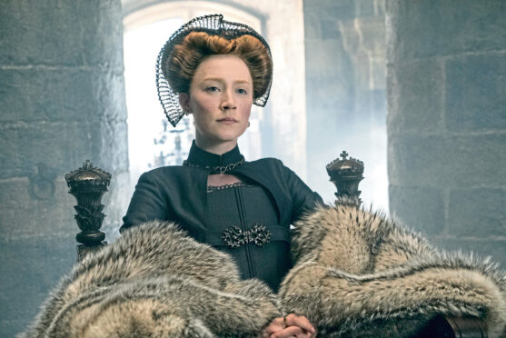 Saoirse Ronan as Mary Queen Of Scots in the 2019 film