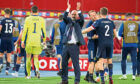 Steve Clarke applauds the Tartan Army after Tuesday night's win over Austria in Vienna.