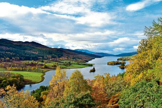 Queens View of Loch Tummel, north west of Pitlochry.