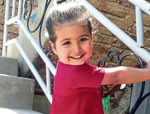 Three year old Malika, who was killed in a US drone strike in Afghanistan 2021.