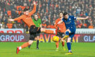 Graham Dorrans scores the last goal in a Dundee league derby, the 1-1 draw at Tannadice in December, 2019. The game is one of this season's selling points in the Premiership.