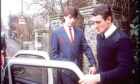 Jeremy Bamber is taken by police to Chelmsford Crown Court for 1986 murder trial