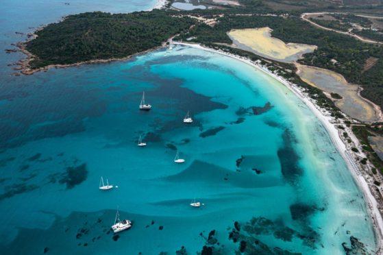 The coast of San Teodoro in Sardinia.