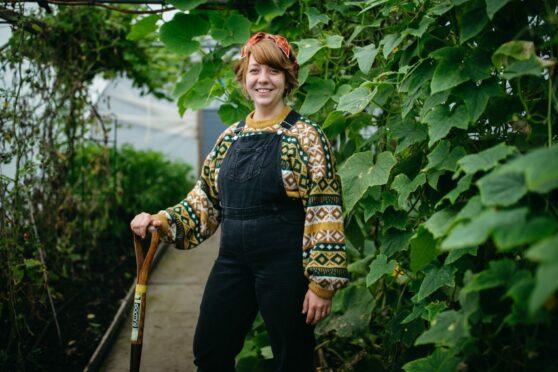 Charley McKenzie, an educational gardener at Bellahouston Community Garden in Glasgow