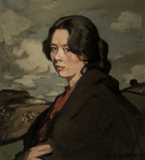 Gypsy in a Landscape, c 1900, is one of many single-female studies by Peploe and was originally believed to have been a painting of his wife, Margaret, posing as a gypsy