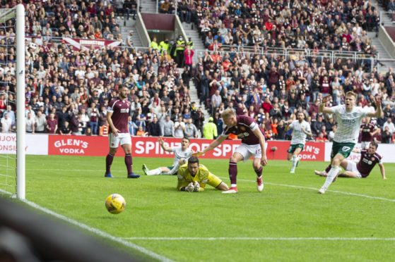 Hearts keeper, Craig Gordon, was far from statue-like in front of Hibs fans last Sunday.