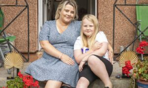 Leanne Bolam and her eight-year-old daughter, Mila