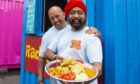 Tony Singh, right, and his brother Lucky serving up their tasty chaat