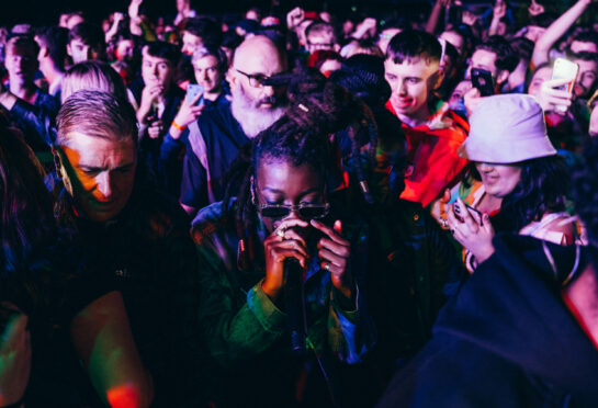 Little Simz took a trip into the crowd in her stunning TRNSMT set