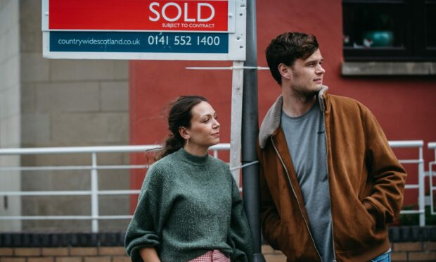 Property hunters Megan McEachern and Kyle Barbour in Glasgow