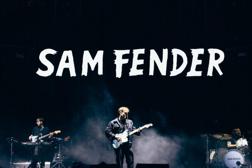 Sam Fender on stage