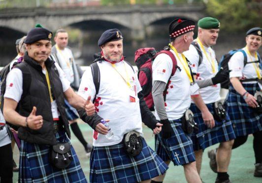 Doing the kiltwalk to fundraise for Poppyscotland