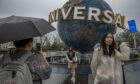 Visitors at the opening of Universal Studios Beijing last week, the latest trade link between China and the US